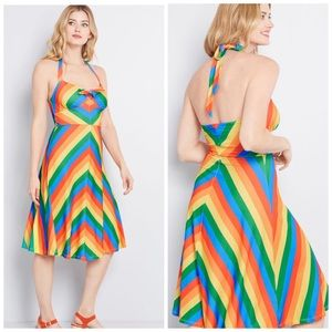 ModCloth rainbow halter dress